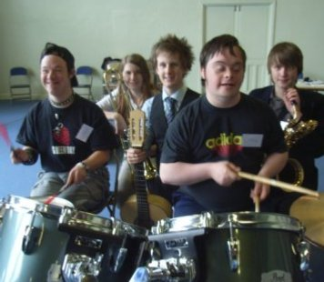 Photo of Share Music group at West Buckland School 26 April 2008